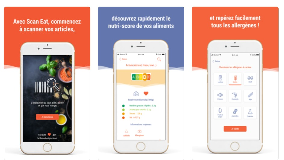 application de décryptage nutritionnel Scan eat