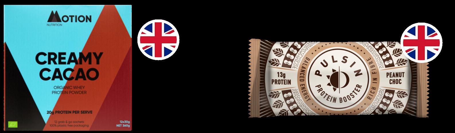 barres protéinées Motion nutrition & Pulsin