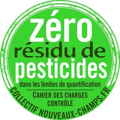 label zéro résidu de pesticides