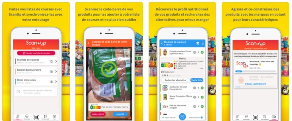scan up application de décryptage nutritionnel alimentaire
