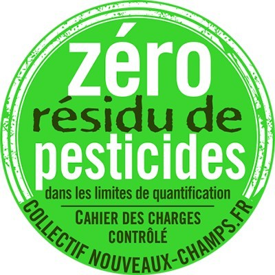 label zéro résidu de pesticides