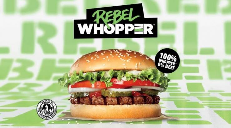 rebel whopper burger king végétal